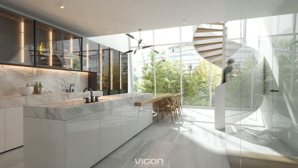 Ánh sáng phản chiếu, phô bày từng đường nét, từng chi tiết trong một tổng thể kiến trúc có sự đan xen phong phú
